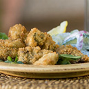 Pan-Fried Oysters with Creamy Cucumber Salad