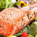 Mixed Greens Salad with Cajun Smoked Salmon