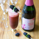 Blackberry Basil Bellini